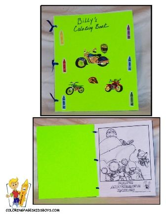 Easy Make Coloring Book at Yescoloring.com. Free Tutorial and PDF ...