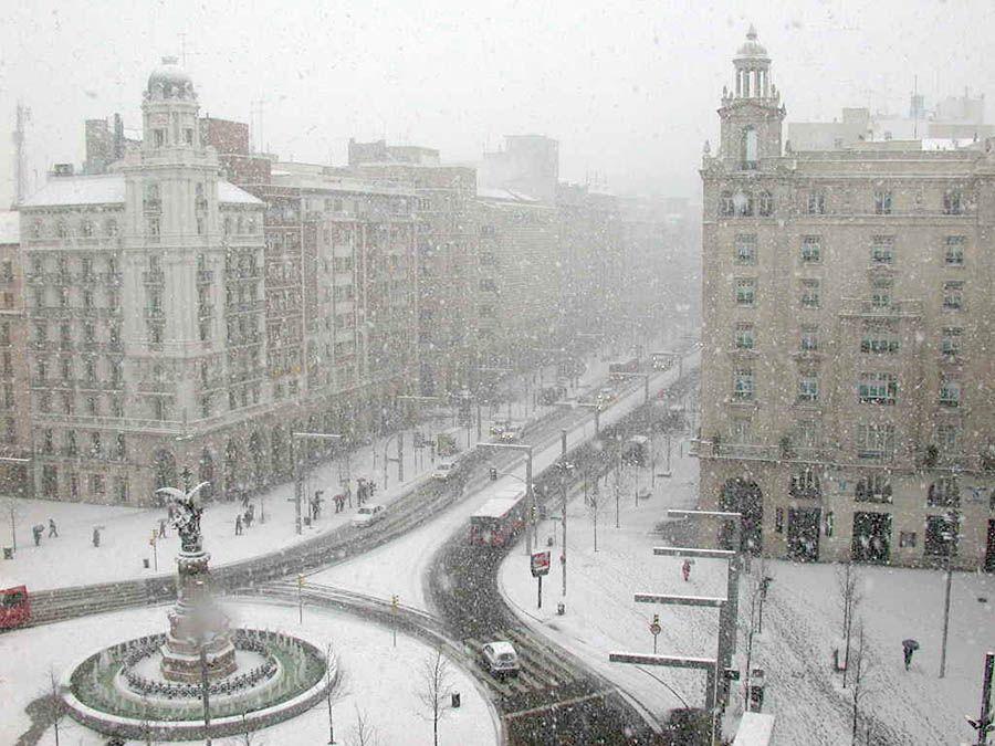 La Nieve Llega A Zaragoza Espa 241 A Marzo 2016 Paisajes