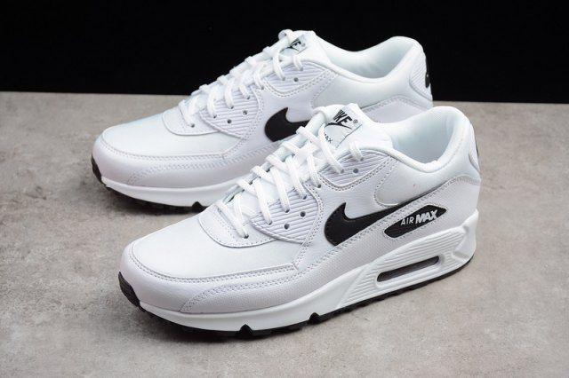 Herren Damen Turnschuhe Nike Air Max 90 Weiß Schwarz 325213