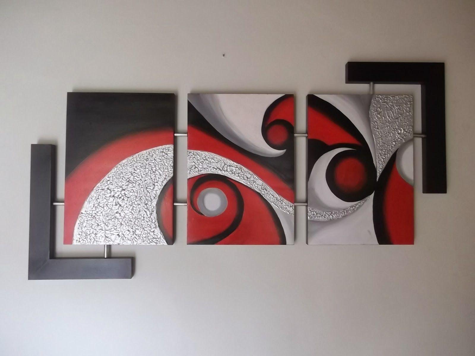 Tecnicas para hacer cuadros abstractos paso a paso Cuadros tripticos modernos para comedor
