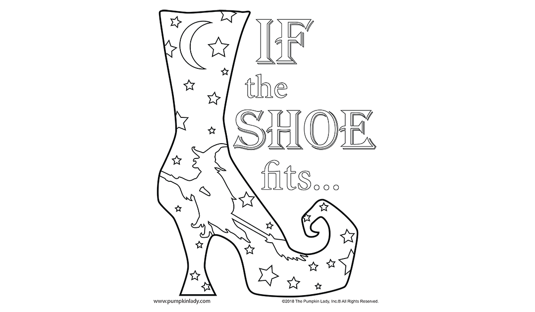 If The Shoe Fits Fun Halloween Craft Project Coloring Page