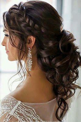 Hochzeitsfrisuren für mittleres Haar halb hoch halb nieder  Seite 19 von 33 #haar #haar  Hochzeitskleid - Lombn Sites