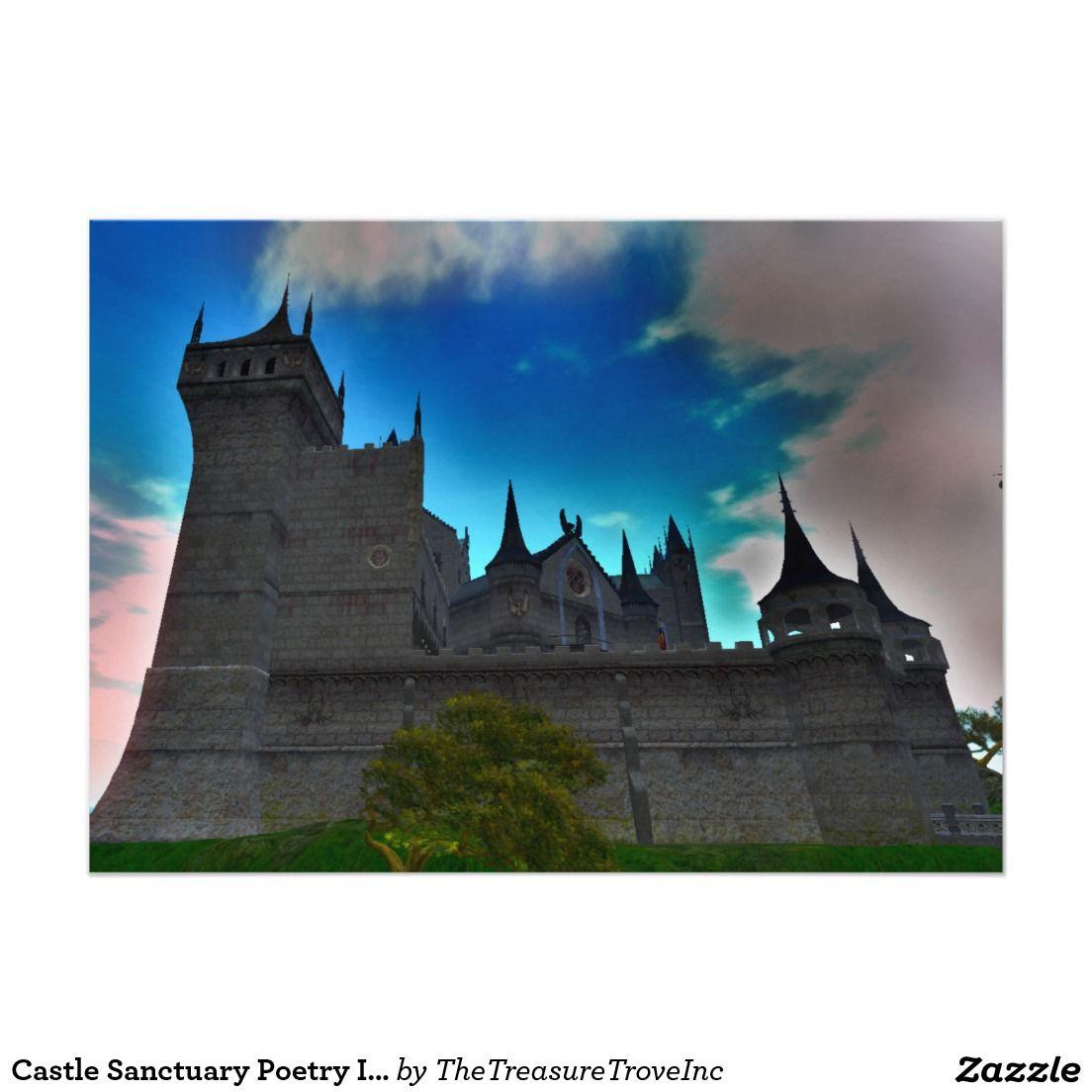 zazzle wedding invitations promo code%0A Castle Sanctuary Poetry Invitation     x     w  env   A contemplative