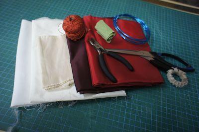 Materiales para hacer flores de tela