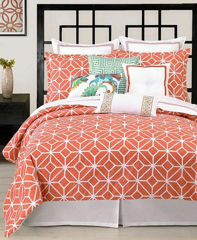 Trina Turk Trellis Coral Comforter And Duvet Cover Sets Home
