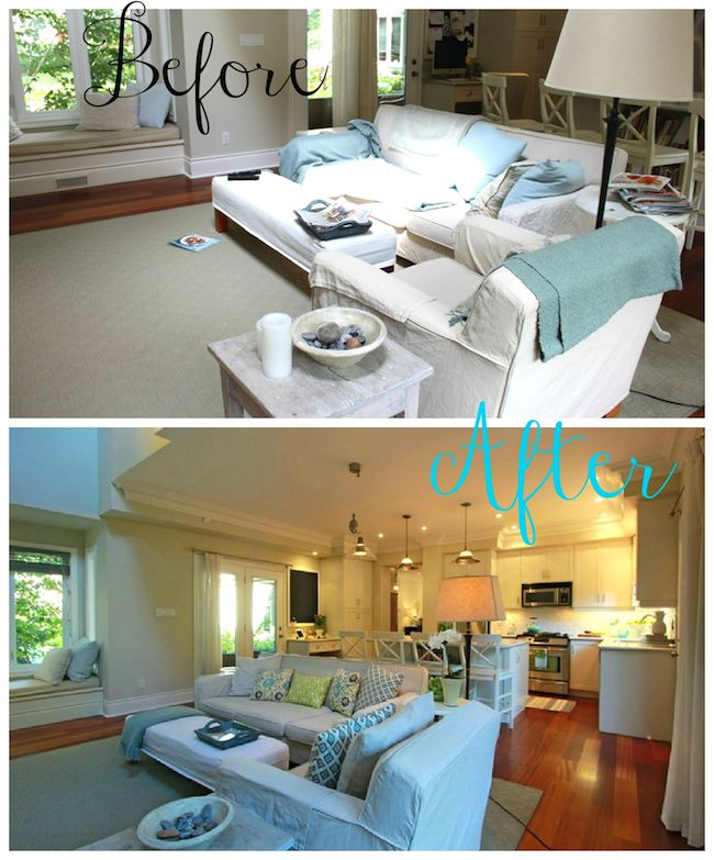 helana and ali: Staging 101 - Where have I been?  Family Room Before and After