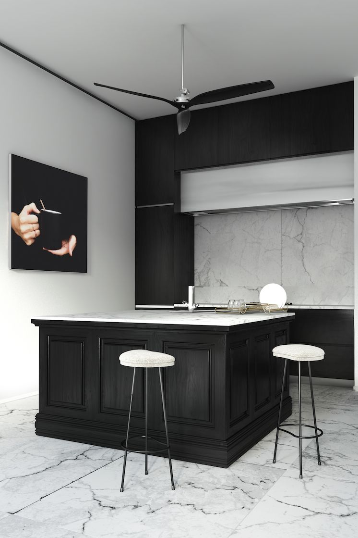 kitchens nowadays black and white eriordesign