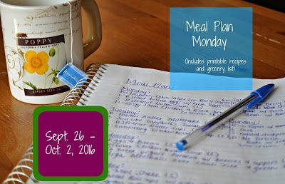 Darcie's Dishes: Meal Plan Monday: 9/26-10/2/16 ~ A one week meal plan that is 100% Trim Healthy Mama compliant. This meal plan is FREE to view and print.