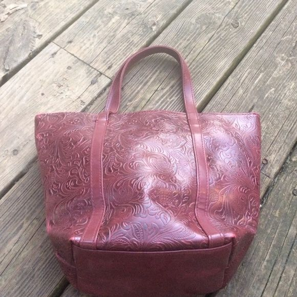Vintage Victoria's Secret bag Super cute oxblood red vs back. In great condition. Victoria's Secret Bags