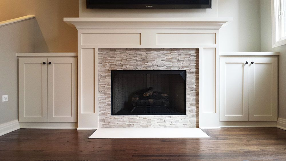 Ultra Clean And Contemporary Wood Fireplace Mantel Surround