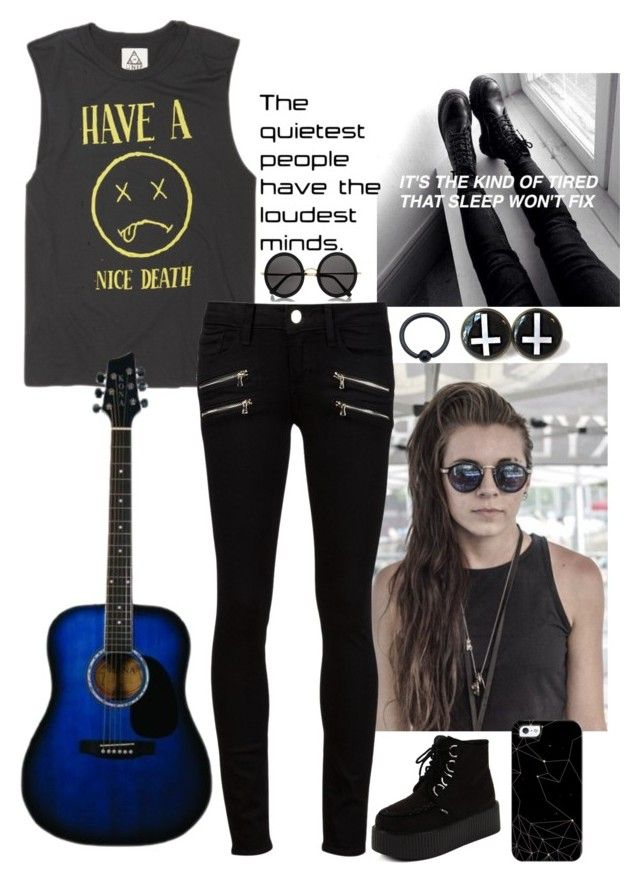 """""""sooooo the d"""" by animeandbandstuff ❤ liked on Polyvore featuring Paige Denim, The Row and Casetify"""