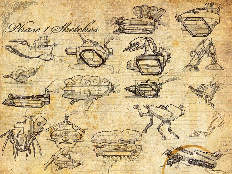 40+ Steampunk sketch ideas in 2021