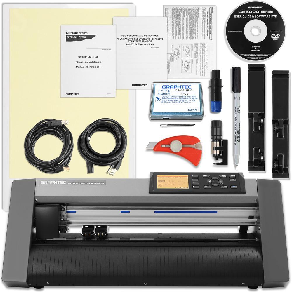 Graphtec Ce6000 40 Plus 15 Inch Desktop Vinyl Cutter Plotter With 2100 In Software Swing Design Vinyl Cutter Vinyl Software