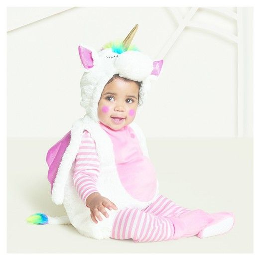 Baby Plush Rainbow Unicorn Vest Costume Hyde And Eek Boutique Target Unicorn Halloween Costume Baby Unicorn Costume Baby Halloween Costumes