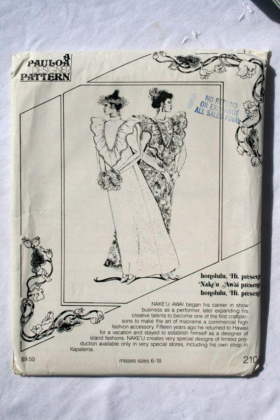 pauloa 210 | hawaiian sewing patterns | Pinterest