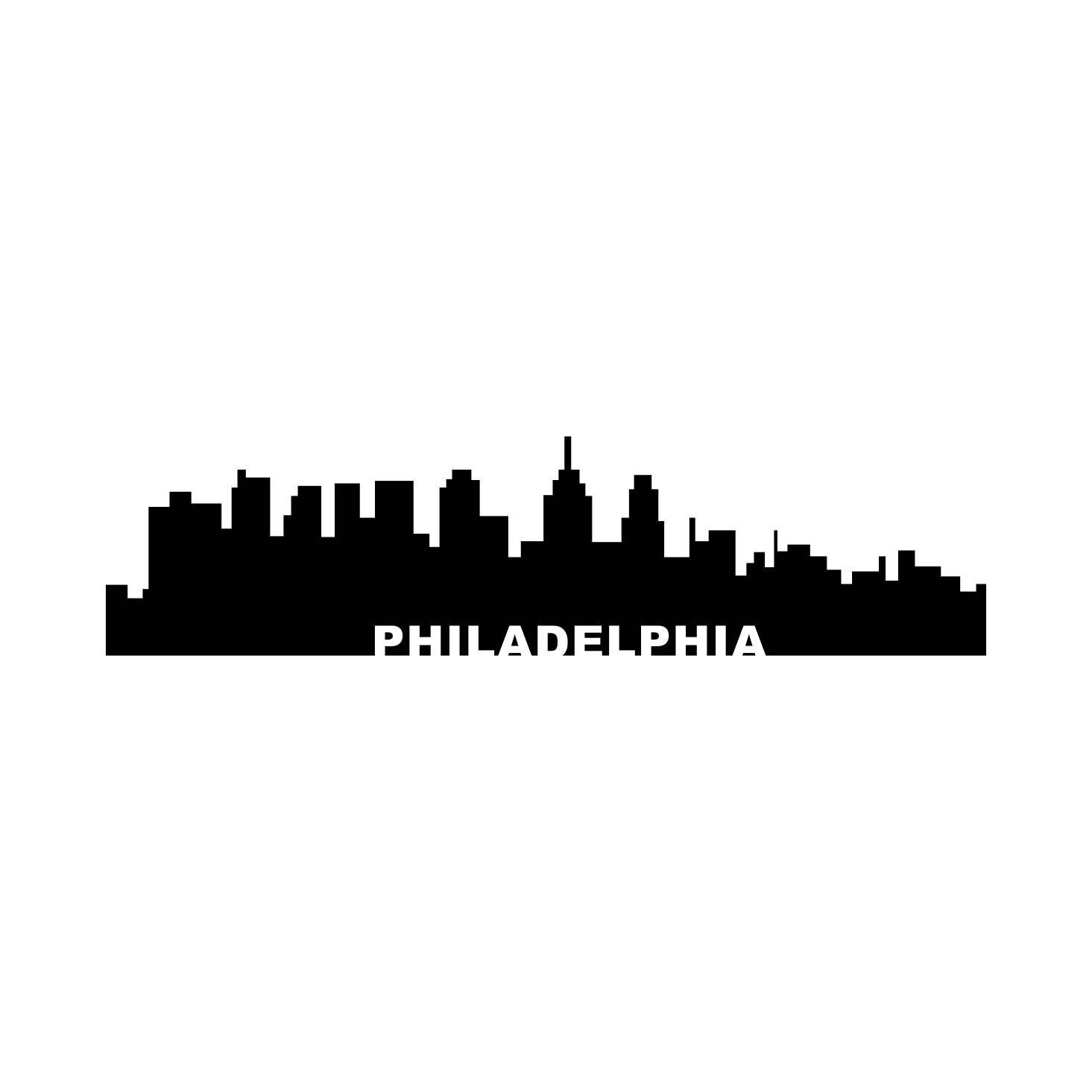 Philadelphia City Skyline Town Graphics Svg Dxf Eps Png Cdr Ai Pdf Vector Art Clipart Instant Download Digital Cu City Skyline Philadelphia Skyline Art Clipart