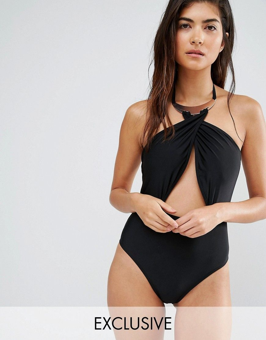 46bcb7f64e7 Wolf & Whistle Gold Collar Swimsuit B/C - E/F Cup | Fashion ...