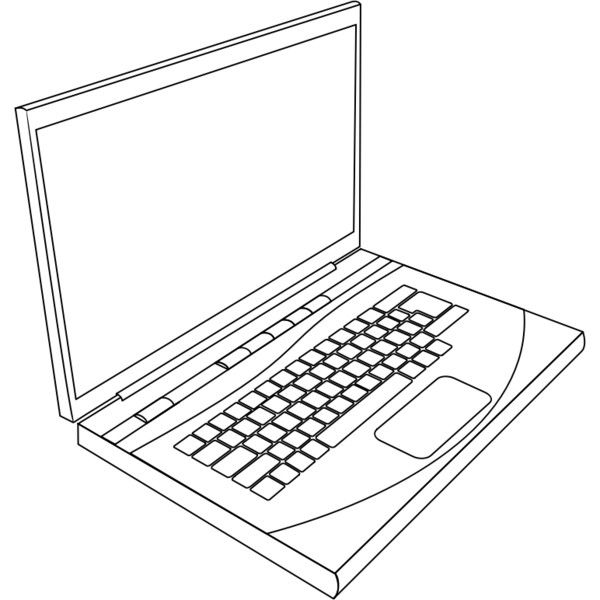Laptop In Line Art Liked On Polyvore Featuring Fillers Aesthetic Drawings Doodles Drawings And Scribble Laptop Drawing Computer Computer Embroidery