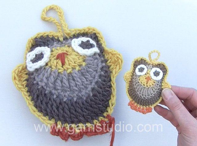 How to make a crochet owl! Video tutorial by #Garnstudio ...