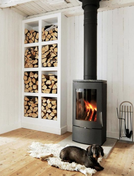 Another Nordic  fireplace/ wood stove.