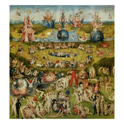 "/""The Garden of Earthly Delights/"" — Giclee Fine Art Print Hieronymus Bosch"
