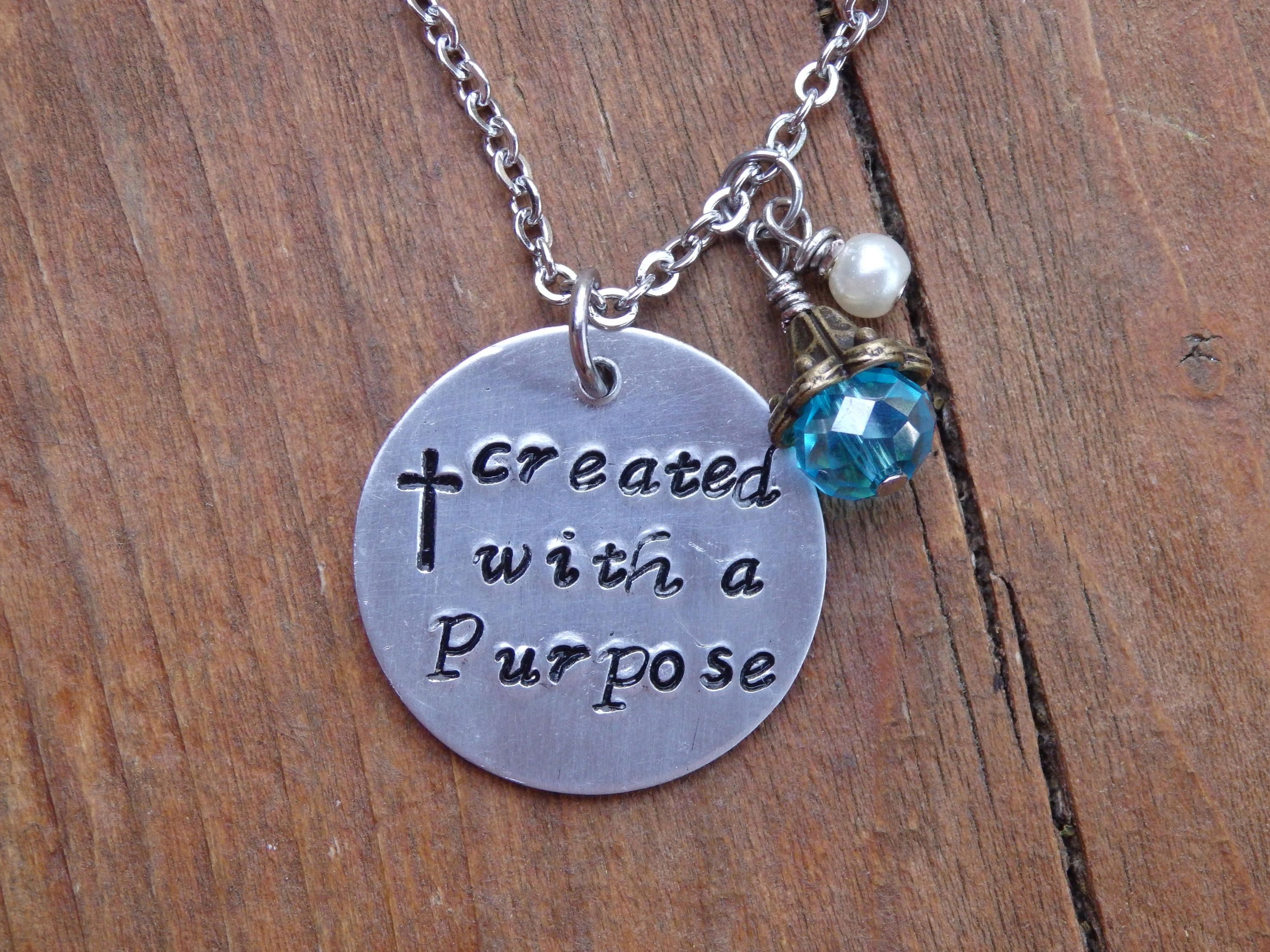 necklace handmade necklaces jewelry hand photo handstamped stamped karma