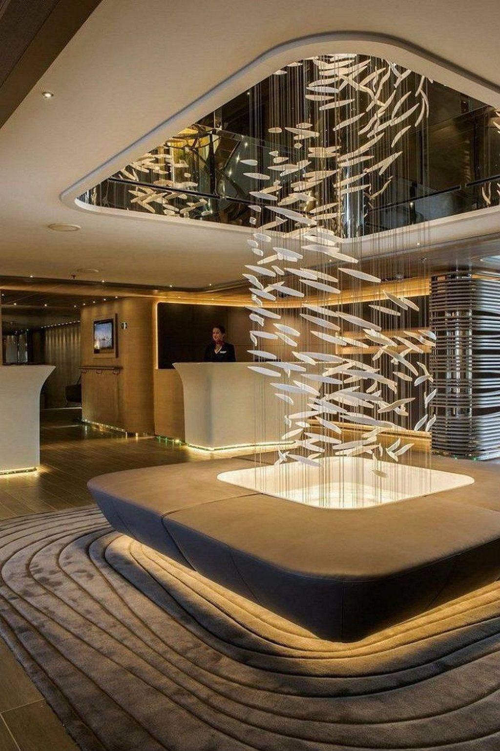 Lighting ideas can be the focus of your hotel interior design. Well chosen luxury or modern lamp