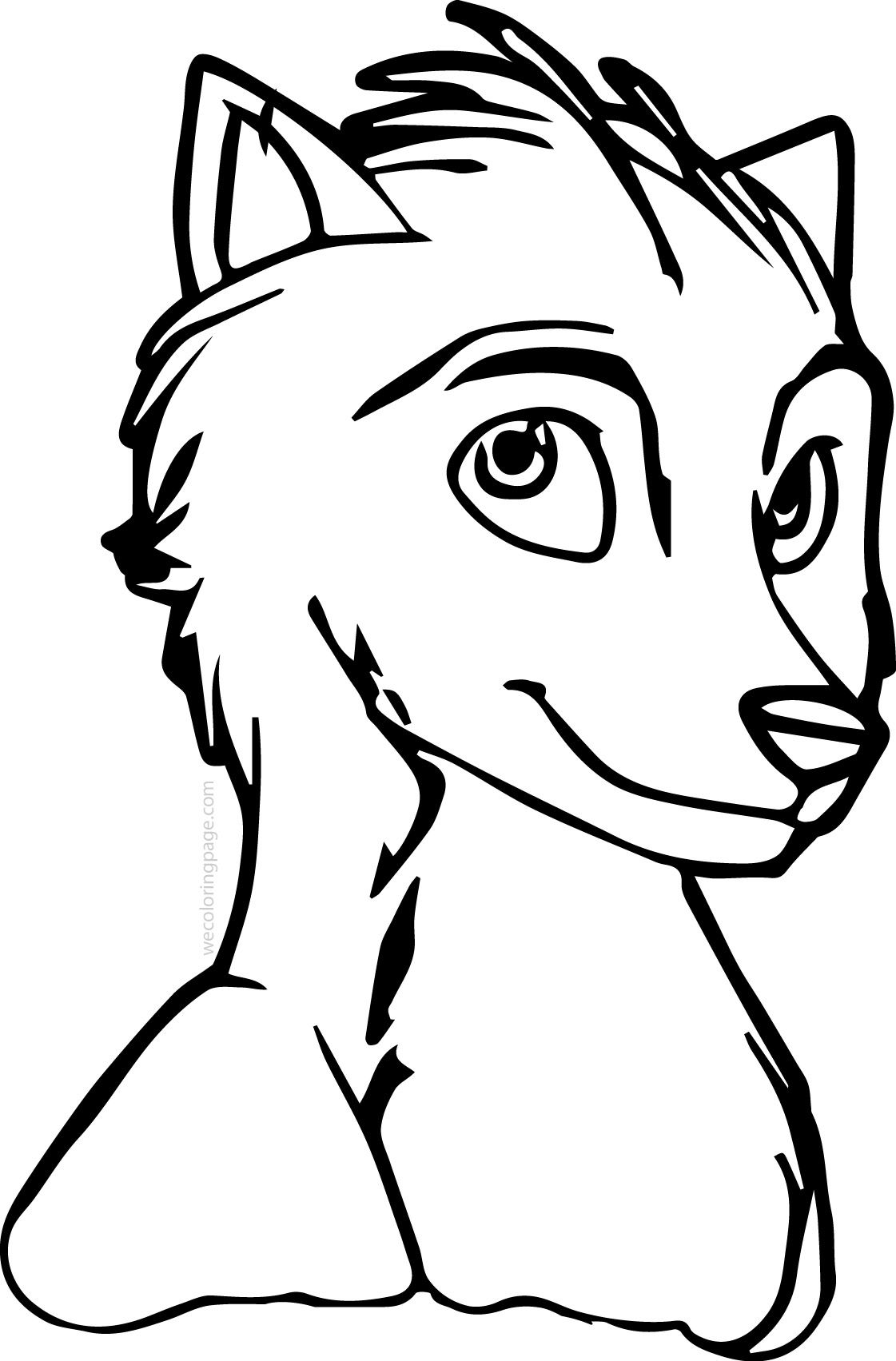 Alpha And Omega Wolf Coloring Pages Omega