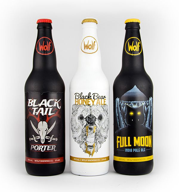 An illustration project, branding a beer company. Bottles, labels ...