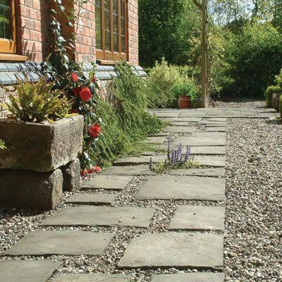 Photo of Garden Paths Paving Plants