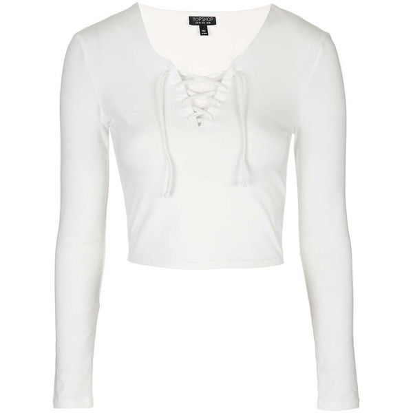 0a03598890 TOPSHOP Tie Front Top ( 23) ❤ liked on Polyvore featuring tops ...