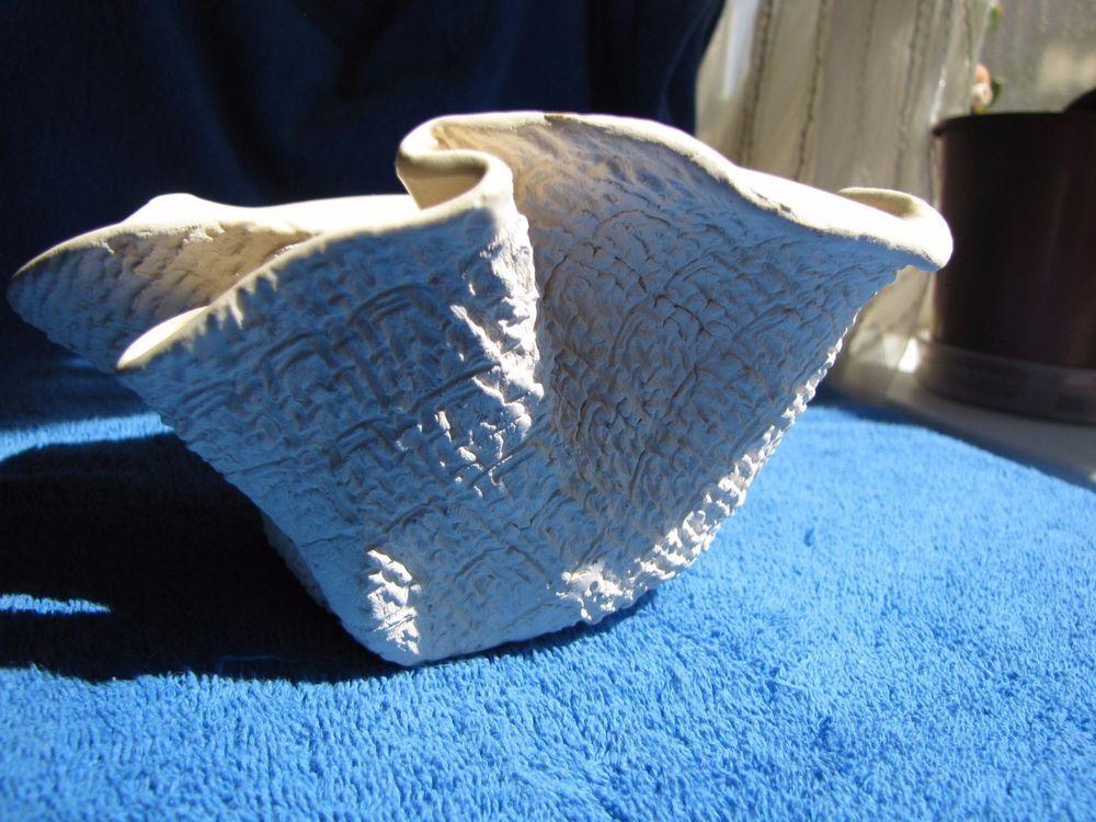 Vintage vtg Sweden Scandinavian pottery sweet Vase lily flower  white signed