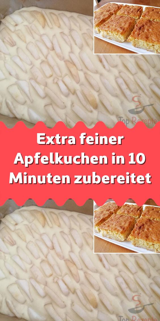 Extra feiner Apfelkuchen in 10 Minuten zubereitet #schnelletortenrezepte