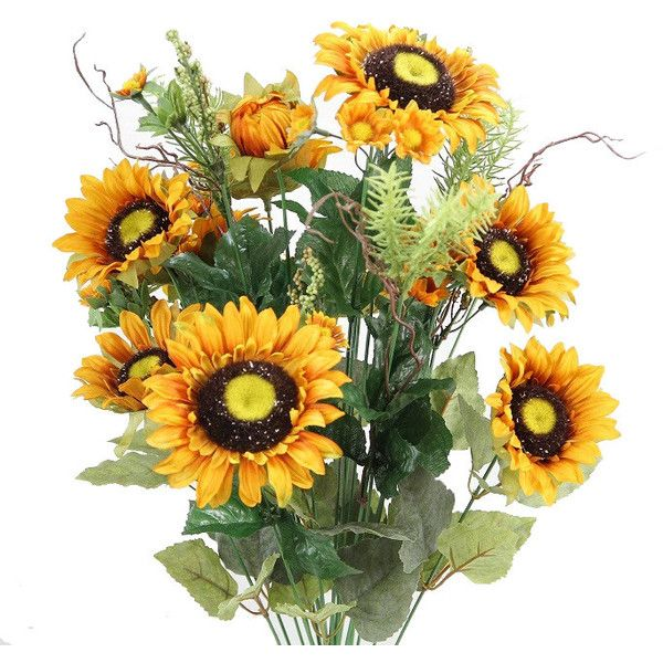 24 stem artificial sunflower cosmo mini berries flower bush 38 24 stem artificial sunflower cosmo mini berries flower bush 38 liked on polyvore mightylinksfo