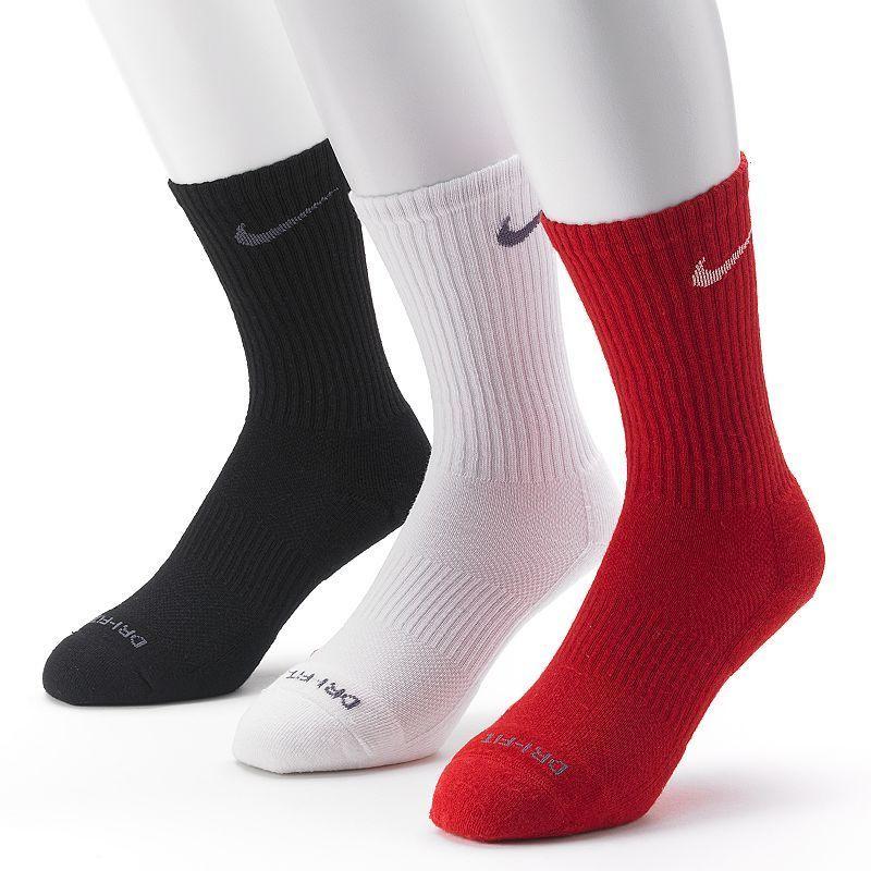 newest 1c16b 156b9 Men s Nike 3-pk. Dri-FIT Cushioned Crew Socks, Size  8-12, Red