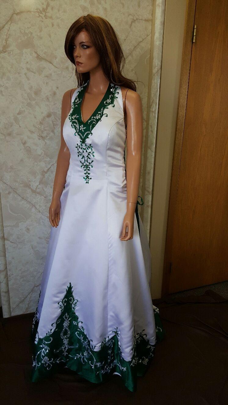 43d1d2861b61 Blue Green And White Wedding Dress – DACC