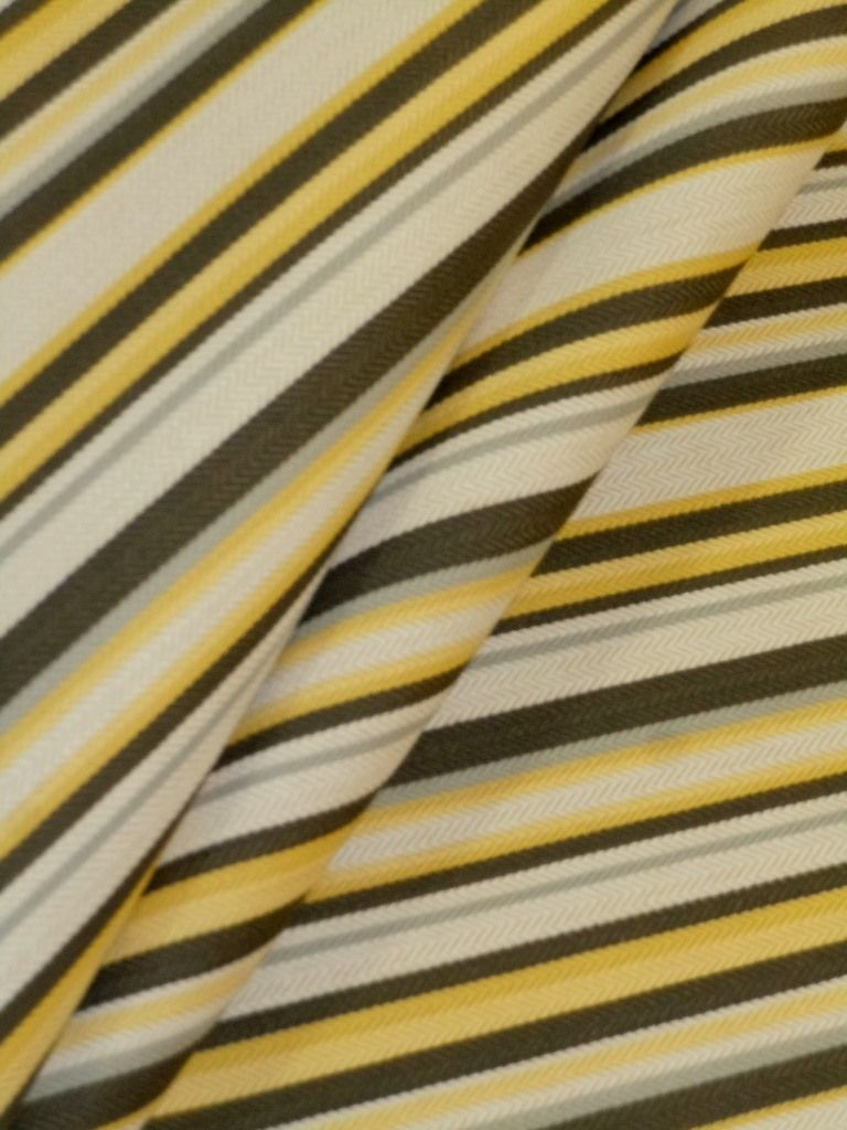 market stripe herringbone weave railroaded black, yellow, gray and