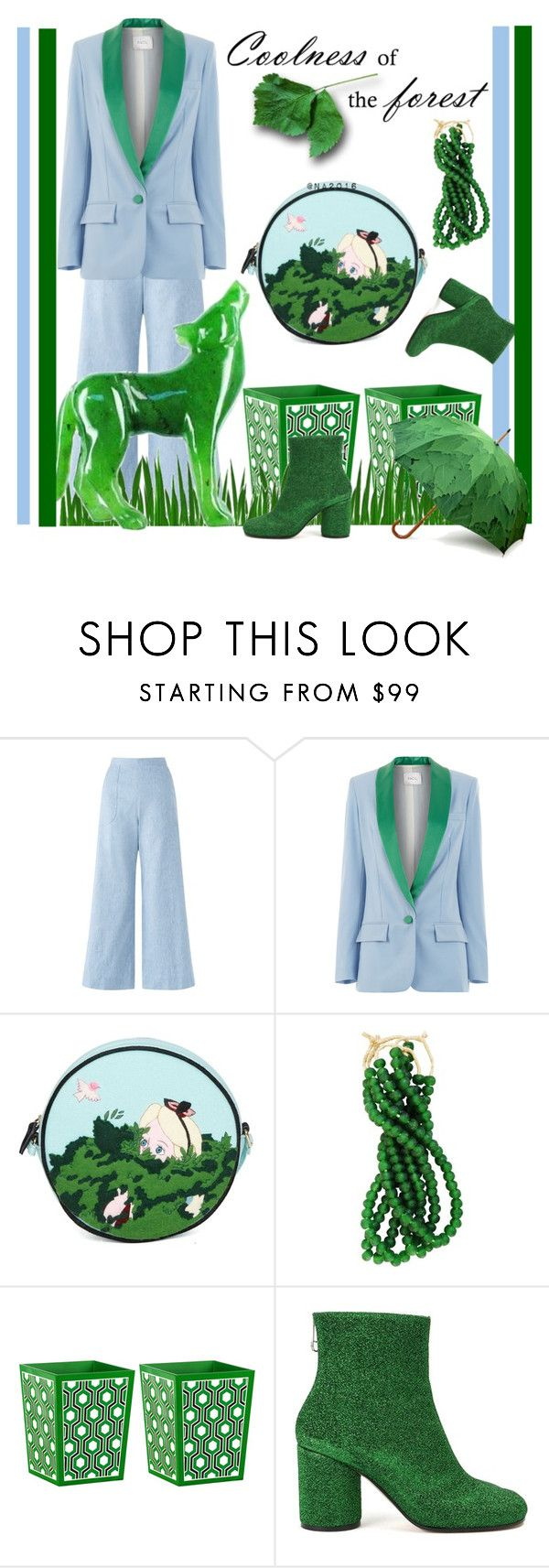 """""""The Forest ♥"""" by menina-ana ❤ liked on Polyvore featuring Jigsaw, Racil, Olympia Le-Tan, Bungalow 5 and Maison Margiela"""