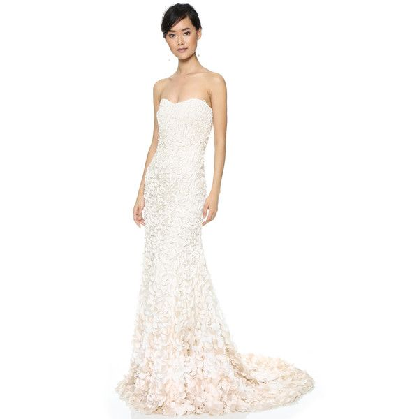 60fd1ce9882 Theia Courtney Strapless Petal Gown ( 1