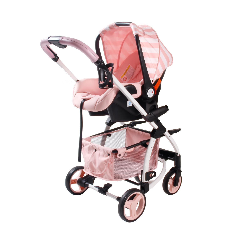 8fe088169fcdb0 My Babiie Billie Faiers MB100Plus Travel System in Pink Stripes  Kiddicare.com