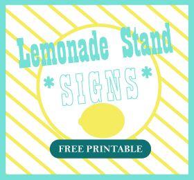 photo regarding Lemonade Sign Printable identified as Printable Lemonade Stand Signs and symptoms Surgical treatment Do it yourself Lemonade