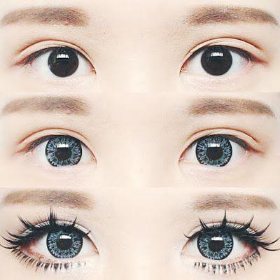 Korean Big Eye Circle Lenses Korean Skin Care Makeup More In Www Uniqso Com Dolly Eye Makeup Tutori Blue Eye Makeup Korean Eye Makeup Eye Makeup Tutorial