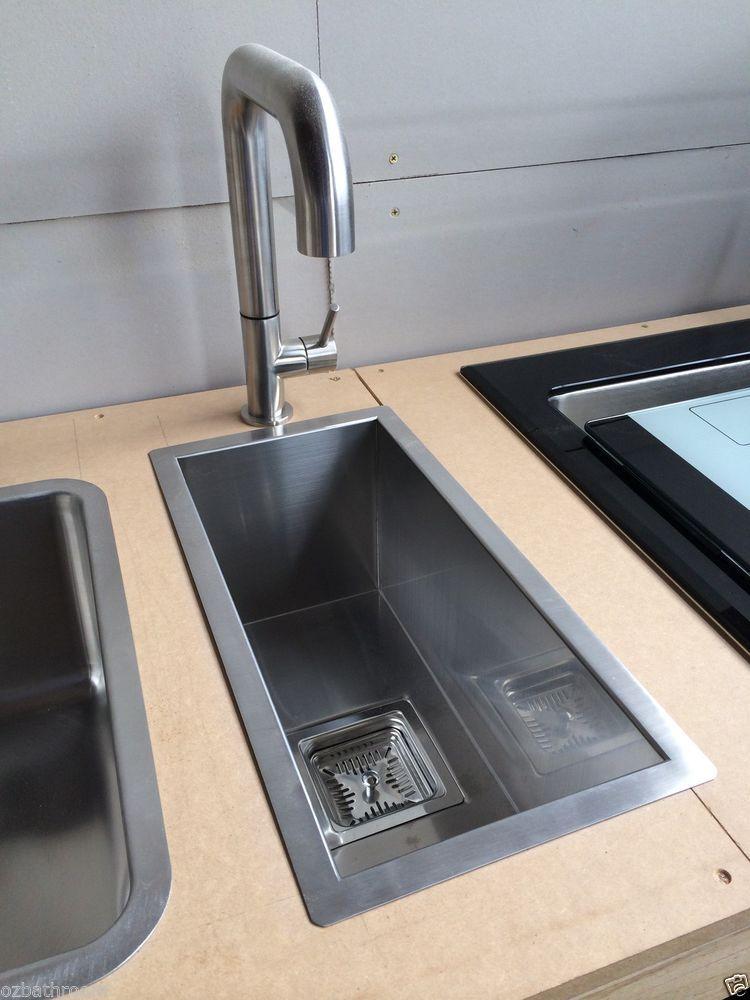 NEW SQUARE PLUG Cube Zero Radius Hand Made Kitchen Sink
