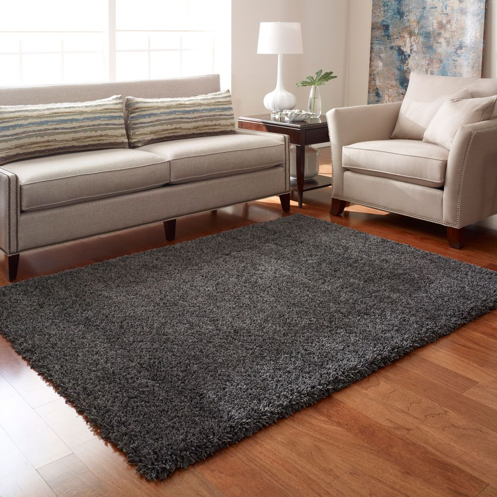 Rug: Costco UK   Thomasville Shag Rug   Medium, Charcoal 114.99