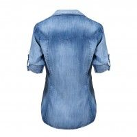 Blouse Fitted Buttondown Arctic Blue