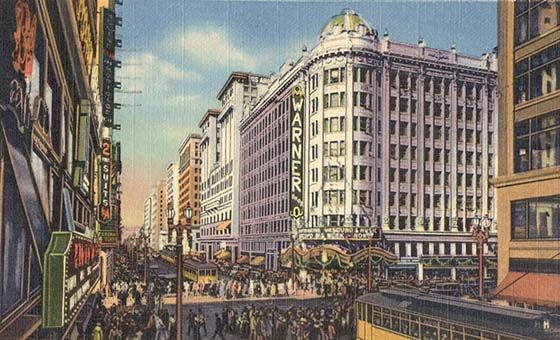 An Old Postcard Showing The Pantages Theater In Dtla 7th And Hill Streets Los Angeles Walking Tour Los Angeles History Downtown Los Angeles
