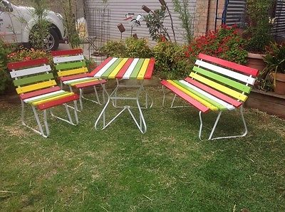 Lovely 60s Retro Outdoor Setting In Home U0026 Garden, Furniture, Outdoor Furniture |  EBay
