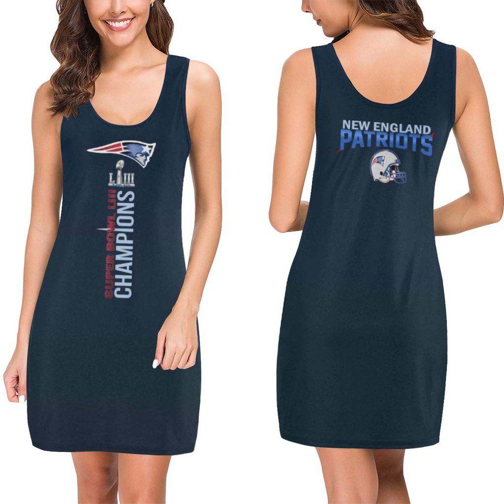 New England Patriots Dress Super Bowl Liii Champions Dresses New England Patriots Apparel Champ Dress New England Patriots