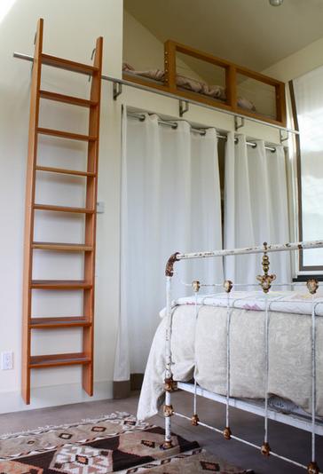 Library Ladder Bedroom To Loft Modern Design Living