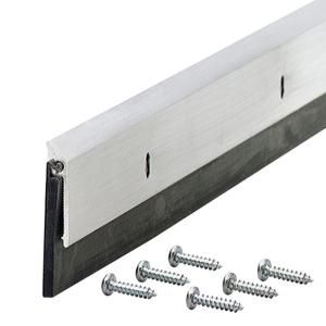 M D Building Products Commercial Grade 1 1 4 In X 48 In Mill Weatherstrip Door Sweep 69604 The Home Depot Door Sweep Door Weather Stripping Door Sweeps